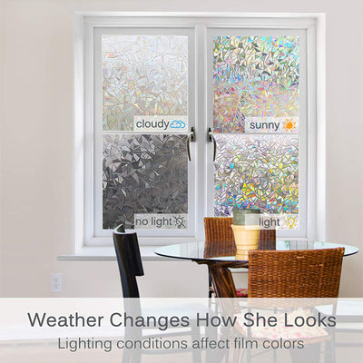 [Last Day Promotion, 50%-70% OFF] 3D Rainbow Window Film (19.7*39.4 inches/45*100cm)-Buy More Save More - goodwearing