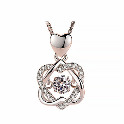 Topaz Pendant Necklace Set Sterling Silver 2.75 Carats With Rose Gift Box(BUY 2 FREE SHIPPING)