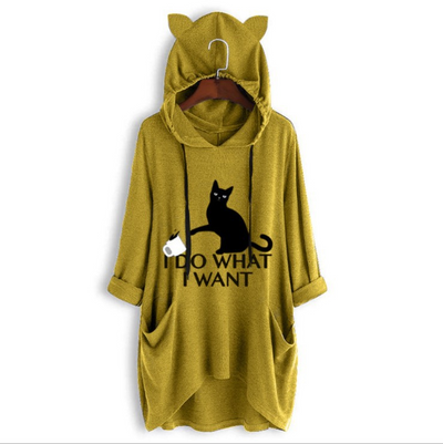 [Hot Sale] OVERSIZE HOODIE WITH CAT EARS - goodwearing