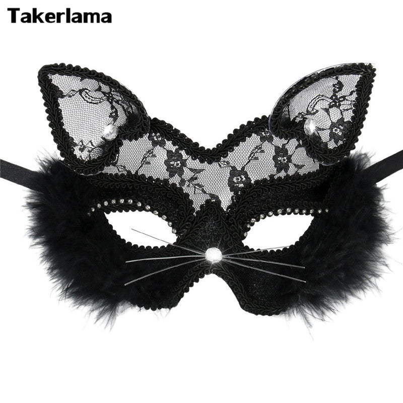 Fluffy Cat Mask