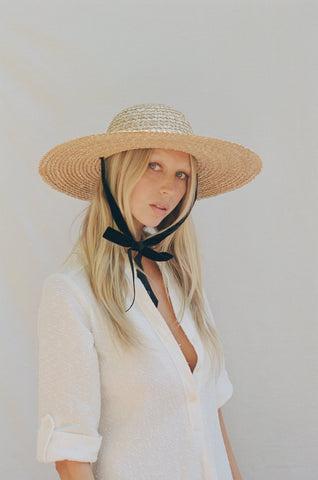 Dolce Sun Hat, Natural/Black