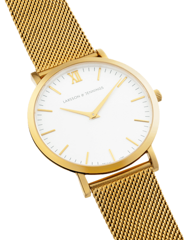 Lugano 40mm, Gold Chain Metal