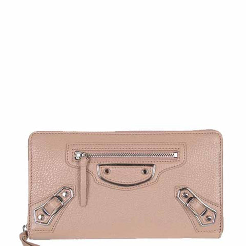 City Wallet Zip ME, Rose Sable/Silver