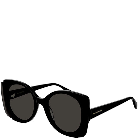 Acetate Butterfly Sunglasses, Black/Grey