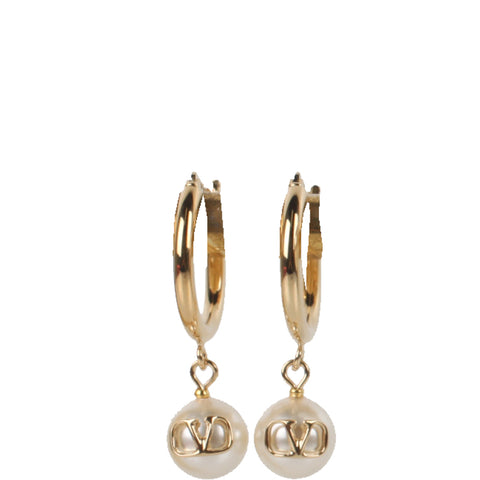 Pearl V Hoops, Gold
