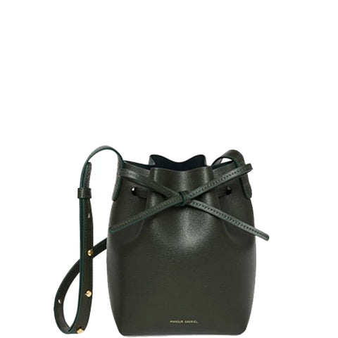 Bucket Bag Mini Mini Saffiano, Moss/Moss