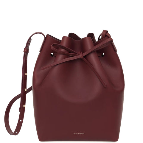 Bucket Bag Calf, Burgundy/Burgundy