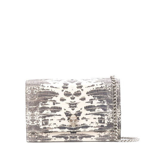 Skull Mini Bag Lizard, Roccia/Silver