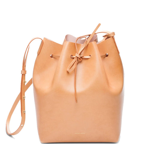 Bucket Bag Vegetable Tanned, Cammello/Rosa