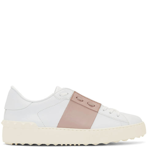 Open Sneaker, White/Rose