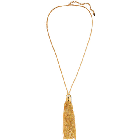 Tassel Pendant Necklace, Gold
