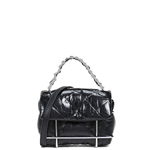 Halo Quilted Crossbody, Black