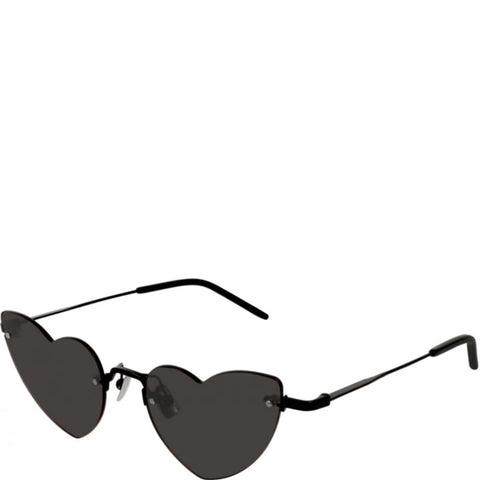 YSL SL3254 Lou Metal Heart Sunglasses, Black