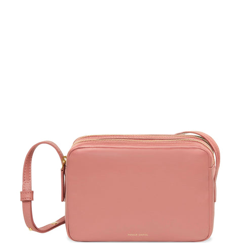 Double Zip Crossbody Lamb, Blush