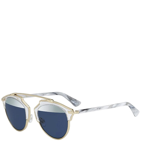 Dior So Real Sunglasses, White Marble