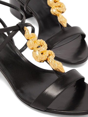 Strappy Serpent Sandal 45, Black