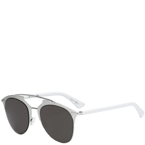 Dior Reflected Sunglasses, White/Grey