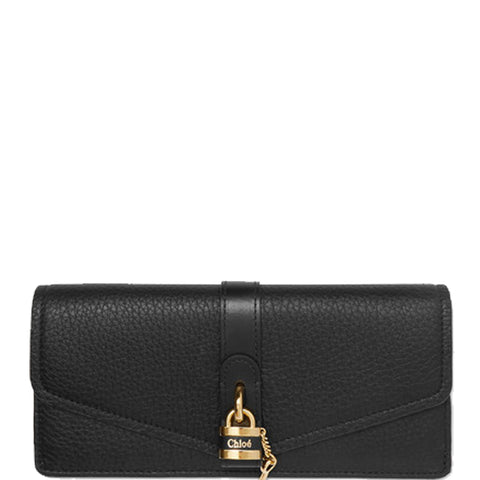 Aby Long Flap Wallet, Black