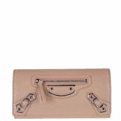 City Wallet Flap ME, Rose Sable/Silver