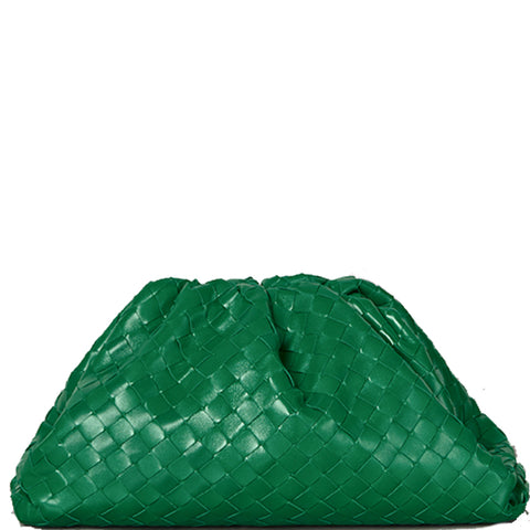 The Pouch Intrecciato, Racing Green