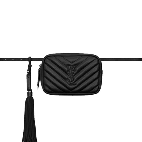 Lou Belt Bag Chevron, Black/Black