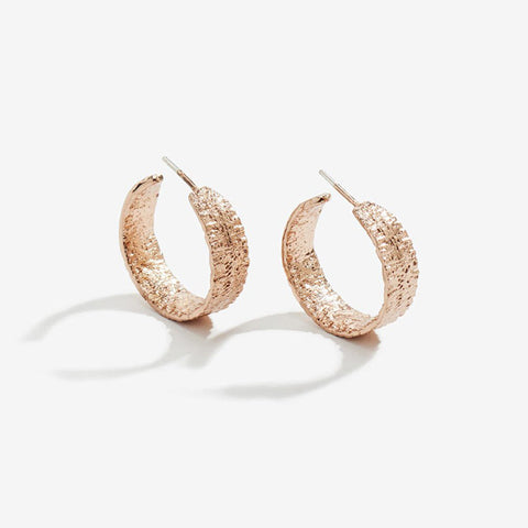 Anchovy Hoop Earrings (pair), Rose Gold