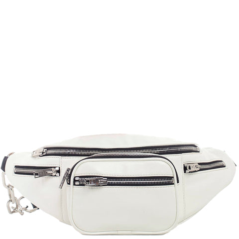 Attica Belt Bag, White/White