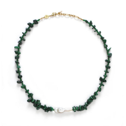 Ines Necklace, Stone Green