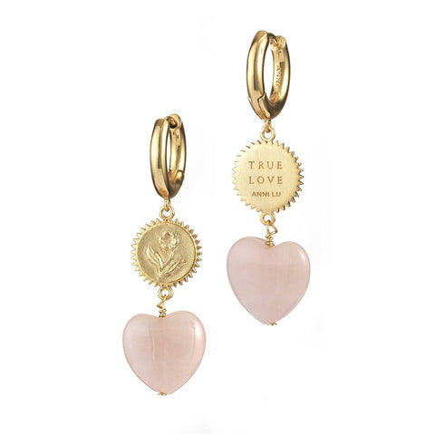 Heart of True Love Hoop Earrings (pair), Gold