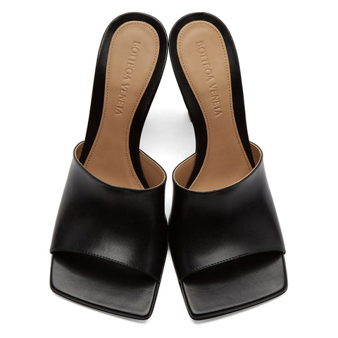 Stretch Mule Sandal 90, Black