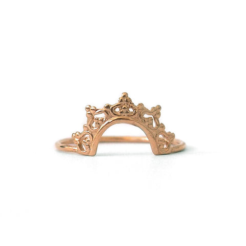 Crown Ring, 9K Yellow Gold