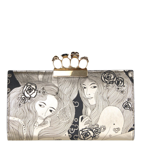 4 Ring Clutch Large Eve, Gold