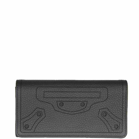 City Blackout Wallet Flap, Fossil/Silver