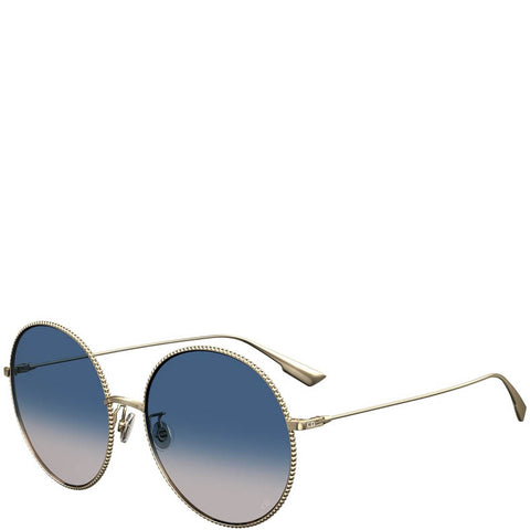 Dior Society 2F Sunglasses, Gold/Blue
