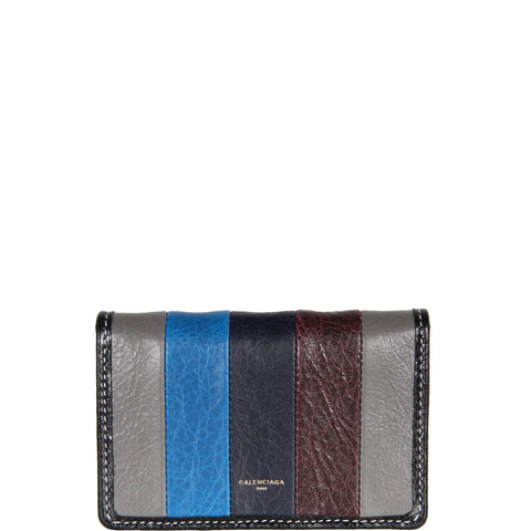 Bazar Bi Fold Card Case, Grey/Navy/Bordeaux