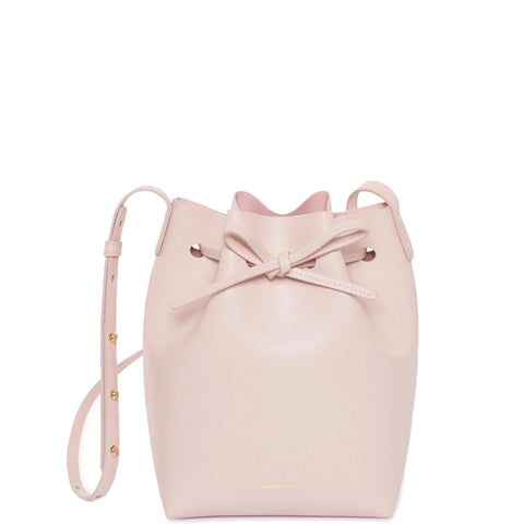 Bucket Bag Mini Saffiano, Rosa/Rosa