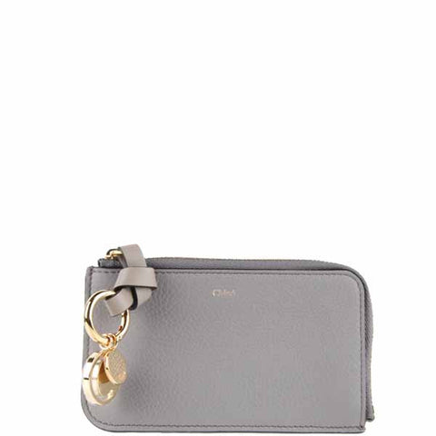 Alphabet Zip Card Holder, Cashmere Grey