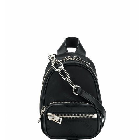 Attica Mini Backpack Logo, Black
