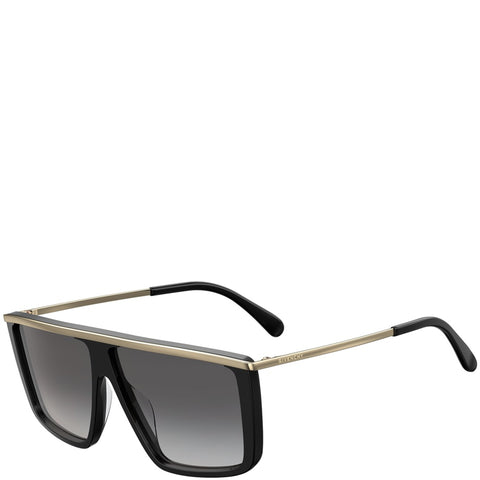 Givenchy Flat Top Sunglasses, Black/Grey