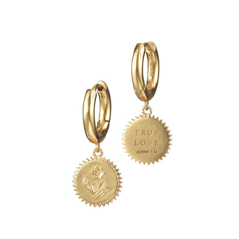 Heart of True Love Earrings (pair), Gold