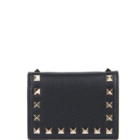 French Flap Wallet, Black