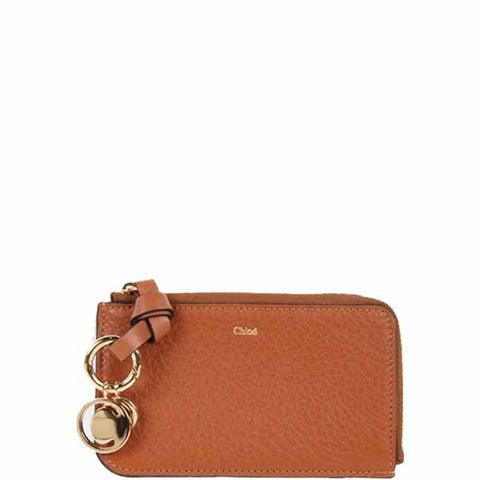 Alphabet Zip Card Holder, Tan