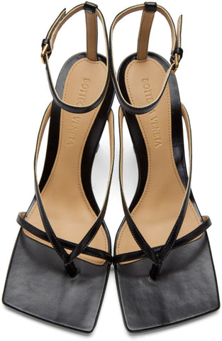 Stretch Square Sandal 90, Black