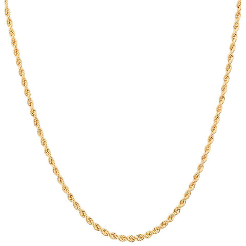 Cord Chain Necklace, 50cm, Gold