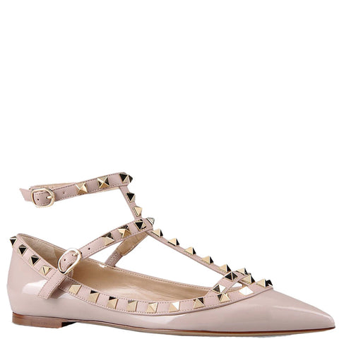 Rockstud Ballerina Caged Patent, Poudre