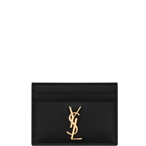 Flat Card Holder Aspen, Black/Gold