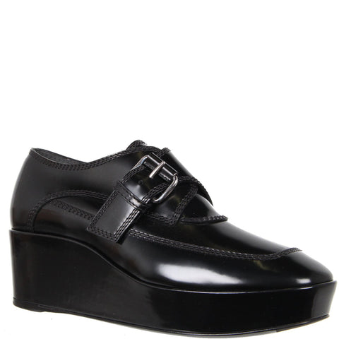 Monk Flatform Loafers, Black