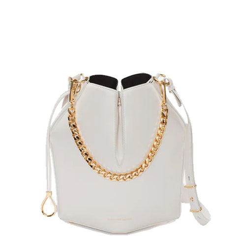 Bucket Bag Small, Off White/Gold