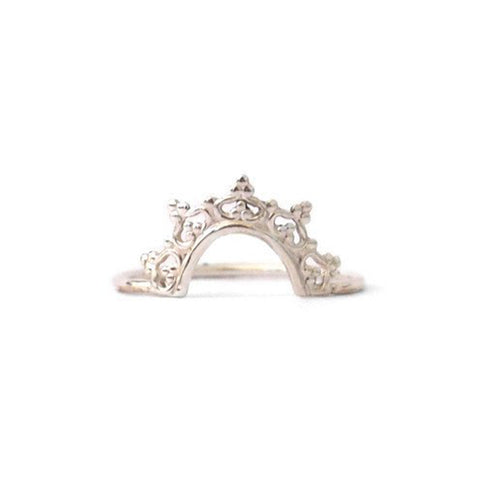 Crown Ring, Silver