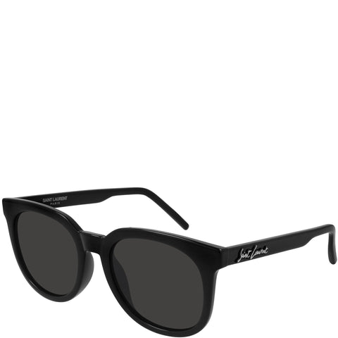 YSL SL405 Signature Sunglasses, Black